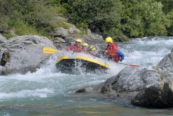 Wilder Wellenritt: Rafting in Saltaus in Südtirol