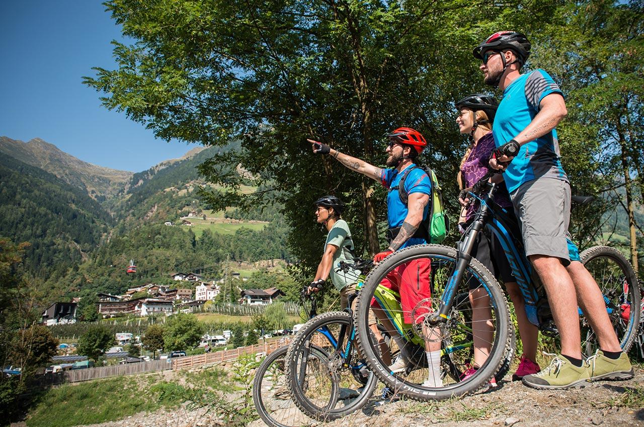 E-Bike Touren am Radweg von Saltaus bei Meran