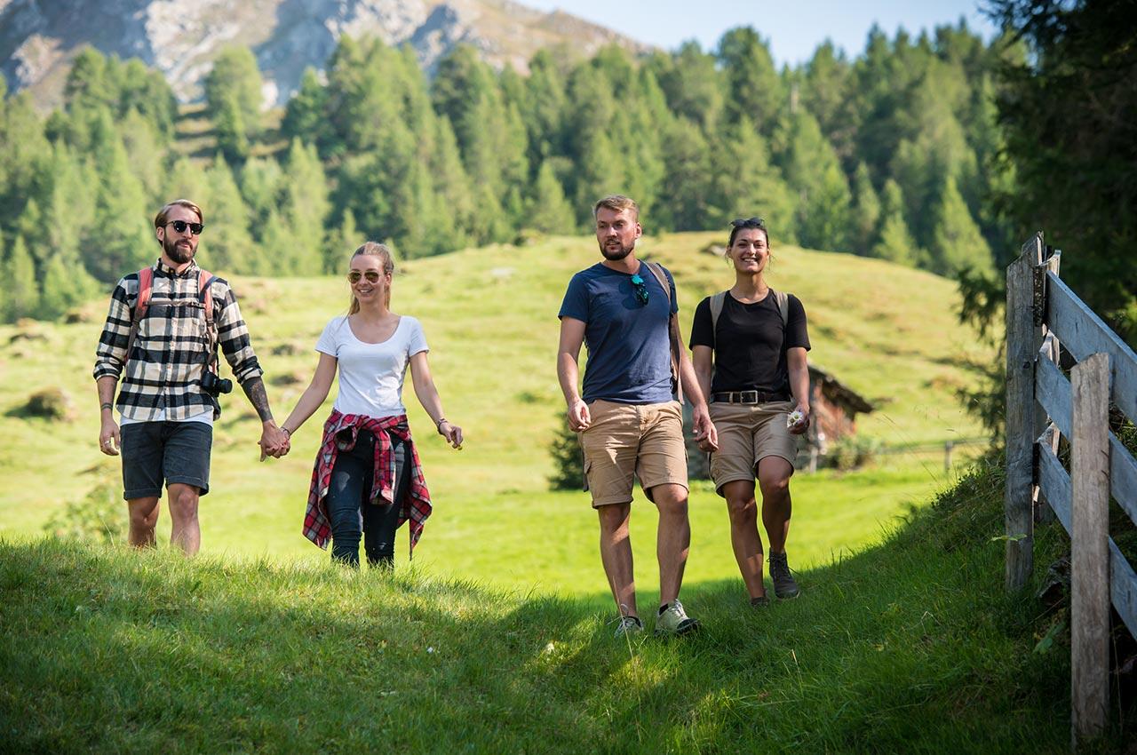 Gemütliche Wanderung im Hirzer Wandergebiet oberhalb von Saltaus